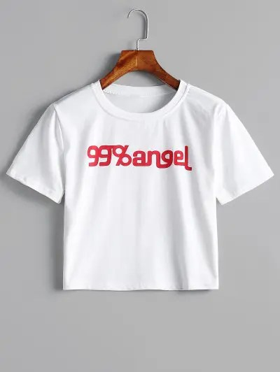Lettering Graphic Cropped Tee