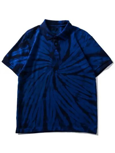 Tie Dye Collared Tee Shirt