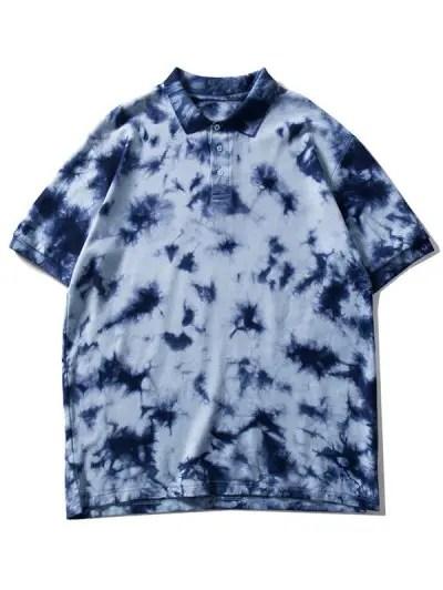 Collared Tie Dye Tee Shirt