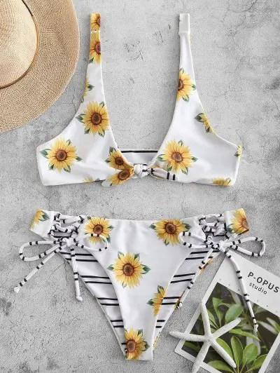 Lace up Reversible Bikini Set