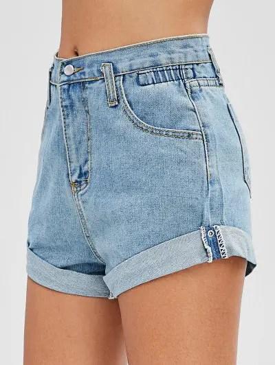 Denim Cuffed Shorts