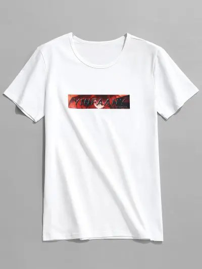 Letters Character Print T shirt