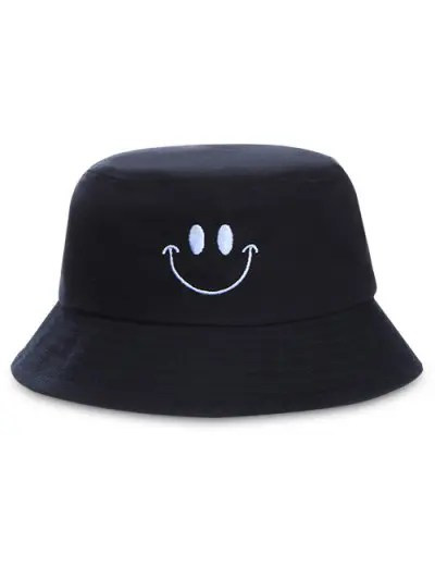 Embroidery Smile Face Bucket Hat