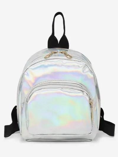 Mini Glossy Travel Casual Soft Backpack