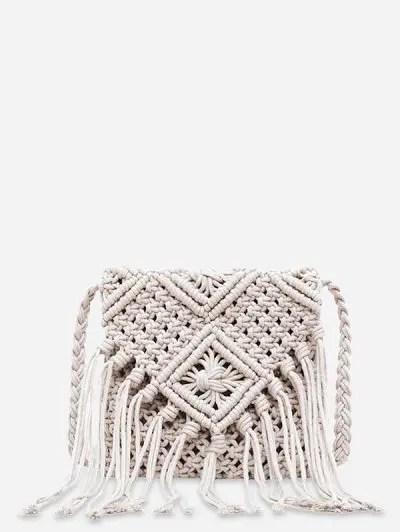 String Weaving Tassel Shoulder Bag