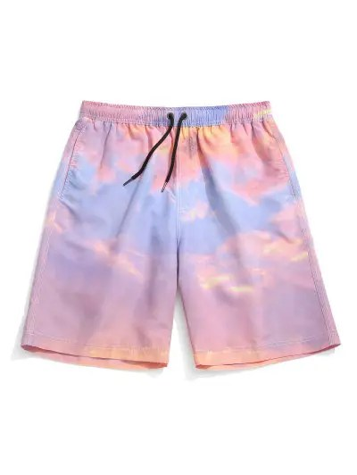 Tie Dye Painting Print Casual Shorts