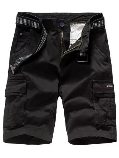 Solid Color Applique Shorts