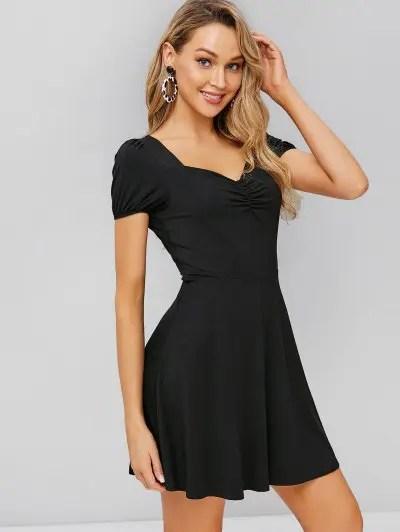 Cinched Skater Dress