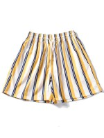 Striped Design Casual Shorts