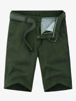 Applique Solid Color Denim Shorts