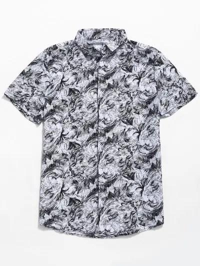 Palm Leaf Print Shirt