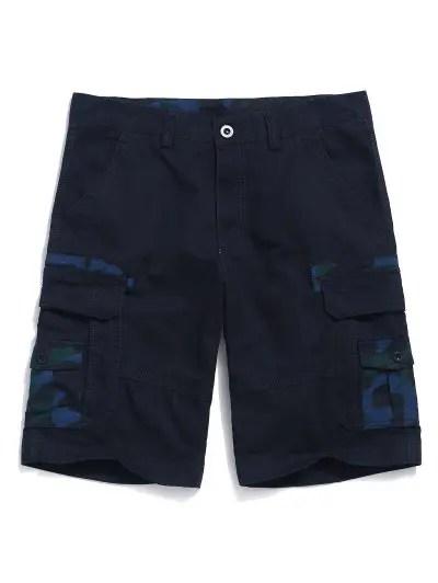 Camouflage Print Applique Shorts