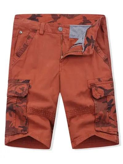 Camouflage Print Shorts