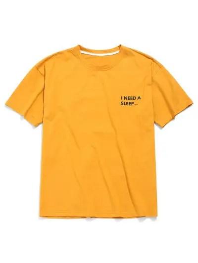 Letter Pattern Print T shirt