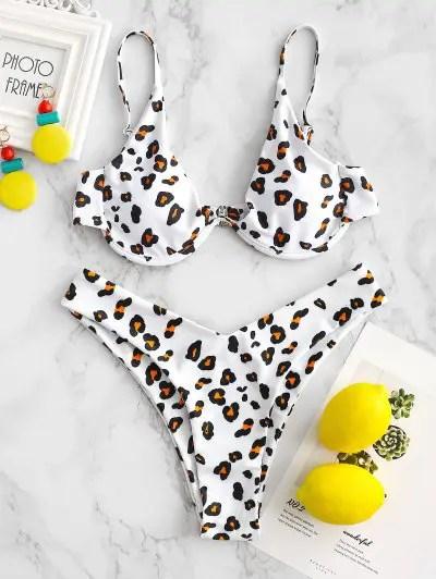 Leopard Underwire Bikini Set