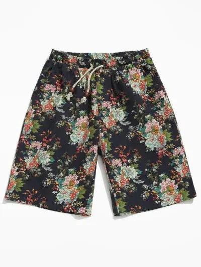 Allover Flower Print Shorts