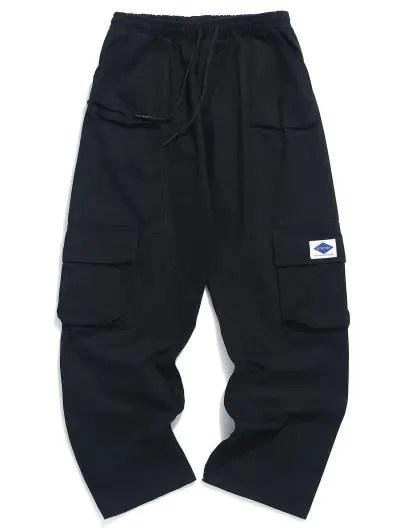 Solid Color Applique Pants