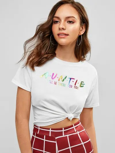 Graphic Cropped T Shirt