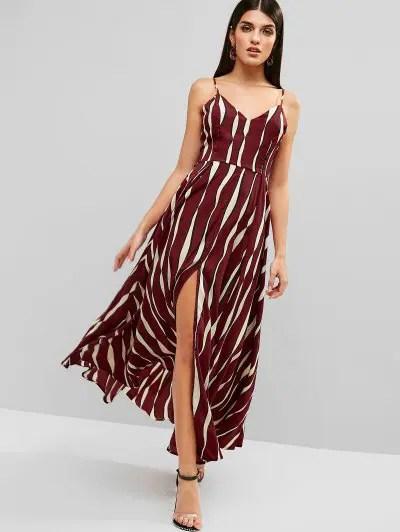 Stripes Cami Maxi Dress