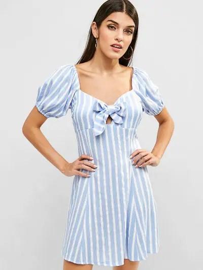 Striped Sweetheart Dress