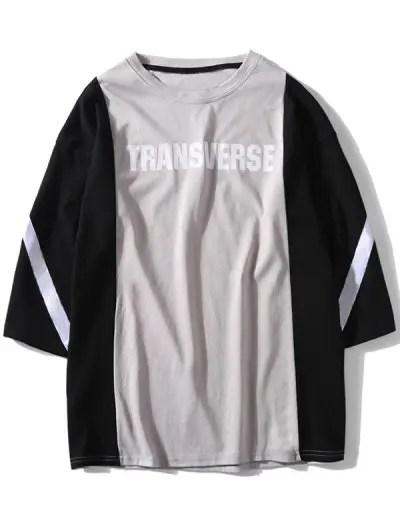 Letter Pattern Short Sleeves T shirt