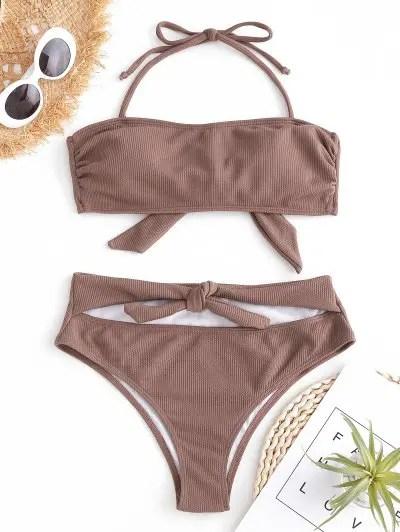 Knot Halter Bikini Set
