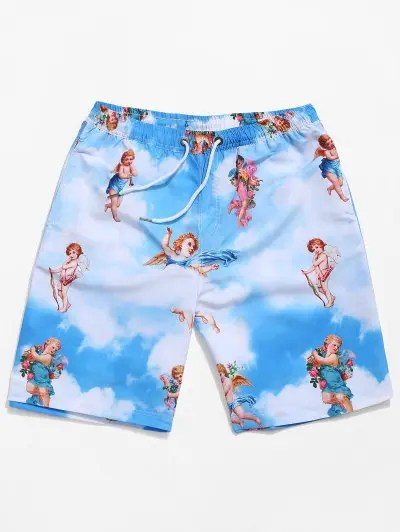 Angel Blue Sky Print Shorts