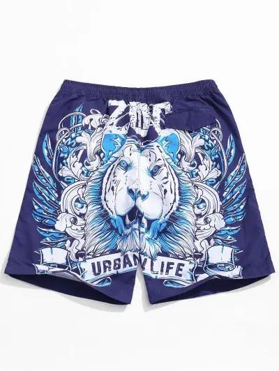 Animal Pattern Print Shorts