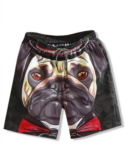 Floral Dog Print Shorts