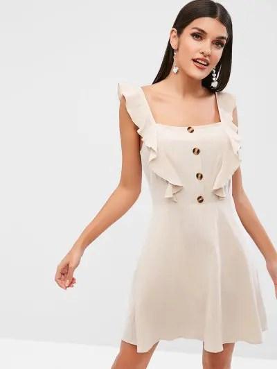 Ruffle A Line Dress