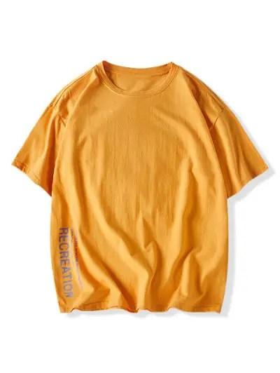Letter Print Drop Shoulder T shirt