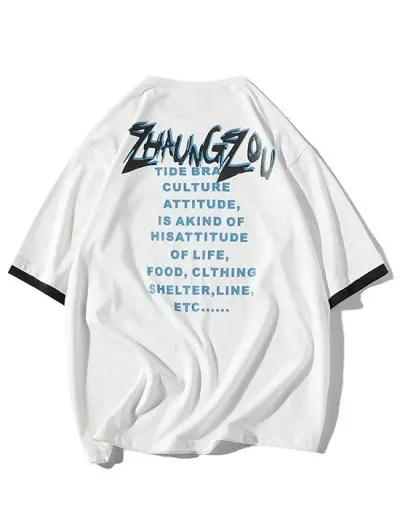 Letter Print T shirt