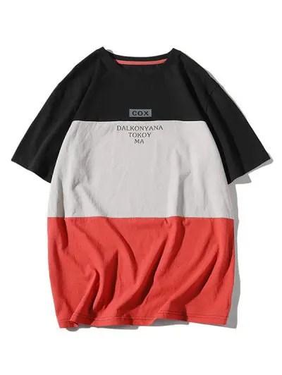 Color Block Splicing T shirt