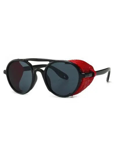 Imitated Snakeskin Wrap Round Sunglasses