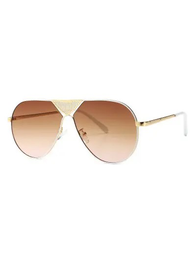 Triangle Stripe Hollow Pilot Sunglasses
