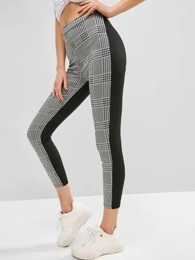 Houndstooth Panel Pants