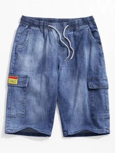 Letter Decoration Jeans Shorts