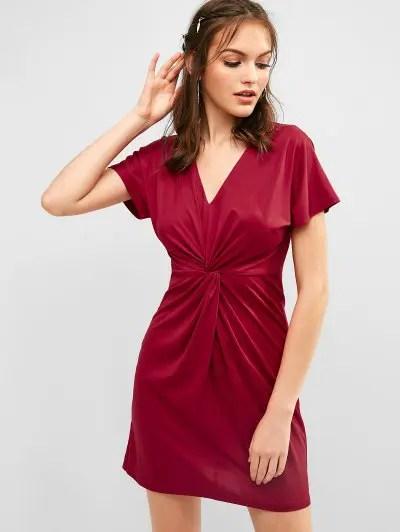 Twist Mini Dress