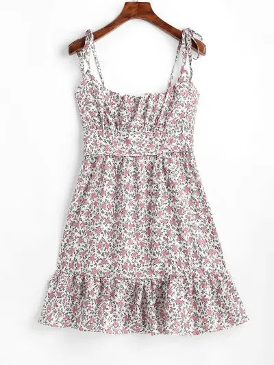 Floral A Line Mini Dress