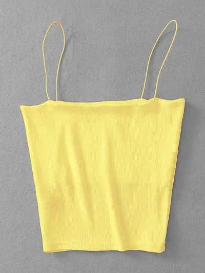 Cropped Ribbed Cami Top