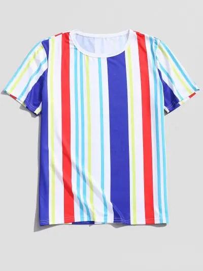 Striped Print Tee