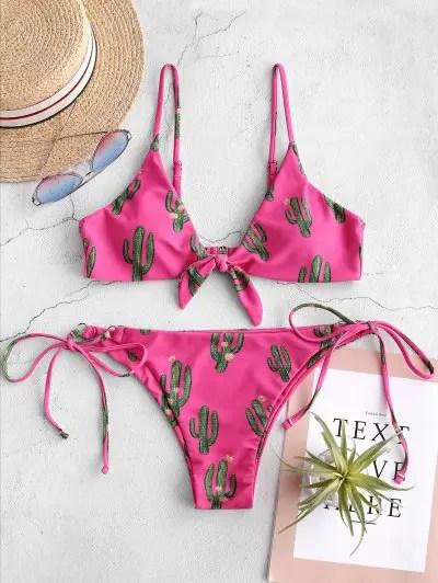 Cactus Knotted Bikini Set