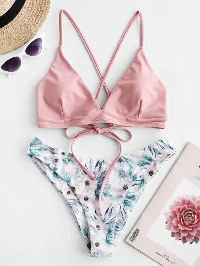Flower Mix and Match Bikini Set