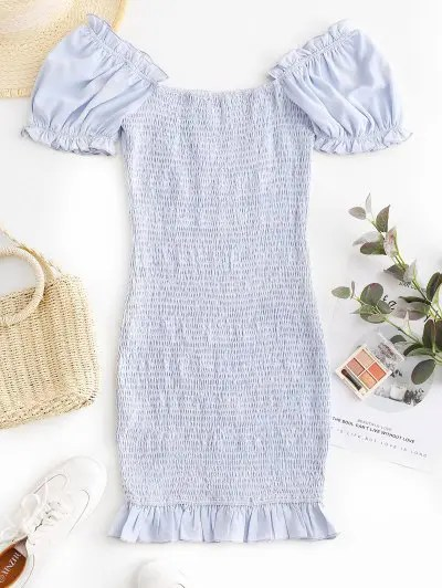 Smocked Bodycon Mini Dress