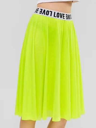 A Line Mesh Casual Skirt