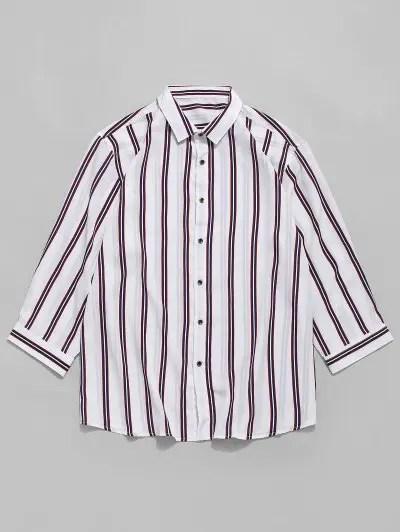 Vertical Stripes Print Shirt