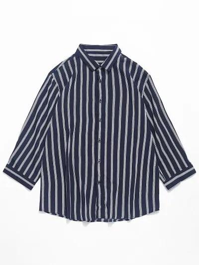 Vertical Striped Print Shirt