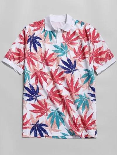 Leaf Ringer T shirt