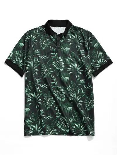 Tropical Leaf Print T shirt