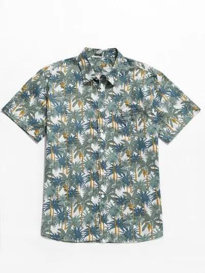 Palm Print Beach Shirt